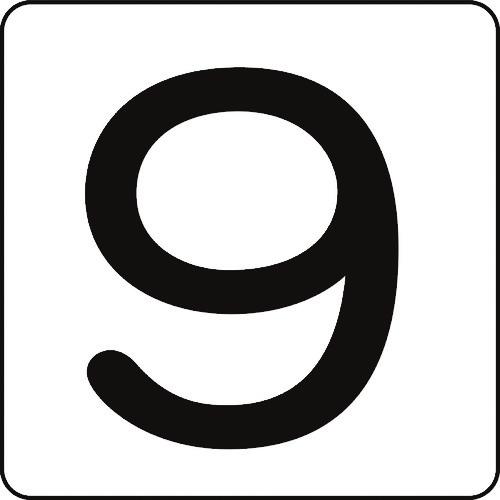 日本緑十字社 サインプレート 緑十字 数字ステッカー 9 定番から日本未入荷 ふるさと割 HS-9 5P 5枚組 大 〔品番:171509〕 アルミ 80×80mm 8248163