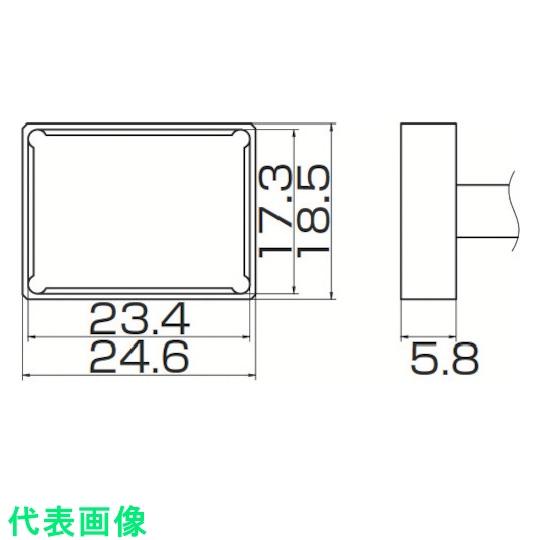 白光 電気はんだこて  白光 こて先 クワッド 23.4mmX17.3mm 〔品番:T12-1205〕[8498190]「送料別途見積り,法人・事業所限定,取寄」
