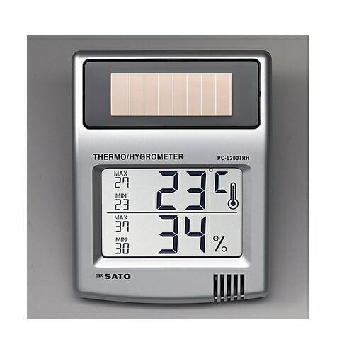 アズワンイオン発生機 海外限定 AS ソーラー温湿度計 PC-5200TRH 〔品番:8-9547-01〕 送料別途見積り 8670571 与え 取寄 事業所限定 法人