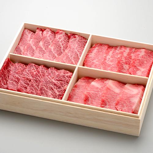 米沢牛 父の日 2020 ギフト プレゼント 懐石 カルビ 食べ比べ セット 全 100g 特上 上カルビ カイノミ ササミ トロカルビ 冷凍便