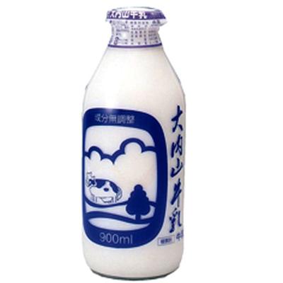 大内山酪農家が大切に作った牛乳 【大内山酪農】大内山牛乳 900ml 瓶