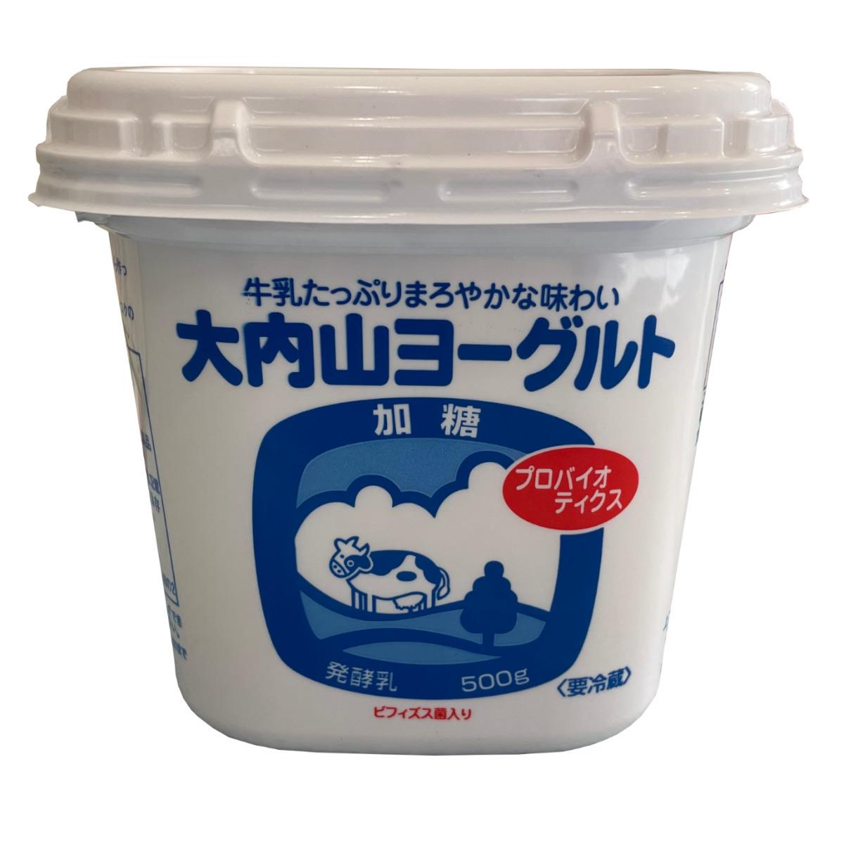 ☆加糖タイプ生きた4種類の乳酸菌☆ 18%OFF 大内山酪農 絶品 500g 大内山加糖ヨーグルト