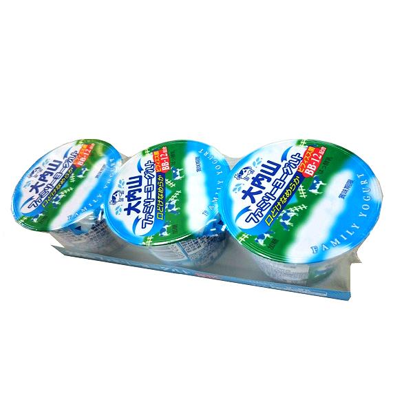 値下げ 超歓迎された ☆酸味がおだやかで とても食べやすいヨーグルト☆ 大内山酪農 大内山ファミリーヨーグルト 3Pセット 80g