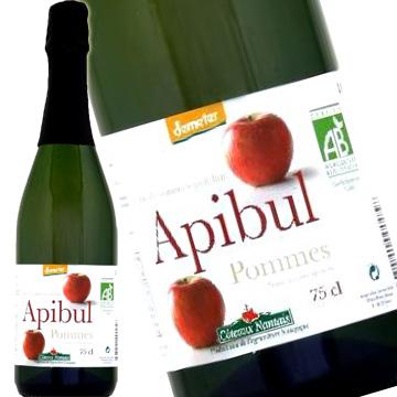 コトー・ナンテ アピブル ポム 有機スパークリング リンゴジュース 750ml 瓶[果汁飲料] 2ケース12本入り 【ラッキーシール対応】