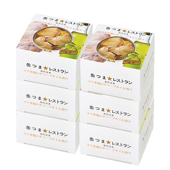 K&K 缶つまレストラン マテ茶鶏のオリーブオイル漬 150g (固形量80g) ×6個セット  [おつまみ]【ラッキーシール対応】