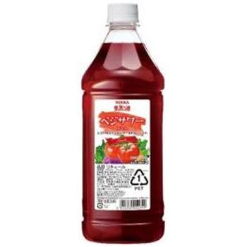 すっきり爽やかなトマトの味わいが特徴です アサヒ ニッカ 果実の酒 ベジサワー 1:3希釈 返品送料無料 1.8L お洒落 コンク トマト