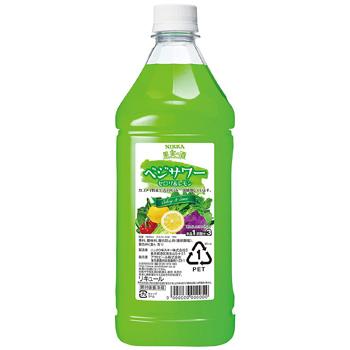 セロリの香りとレモンの爽やかな味わいがバランス良く調和 アサヒ ニッカ 果実の酒 ベジサワー 流行のアイテム 1.8L お気に入り コンク レモン セロリ 1:3希釈