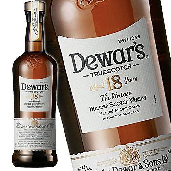 デュワーズ 18年 750ml [スコッチ・ウイスキー]【ラッキーシール対応】