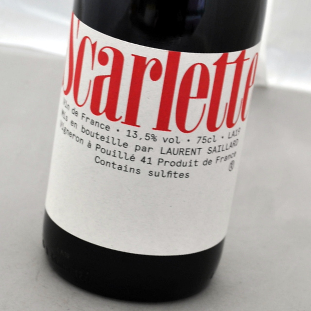 スカーレット 買い物 2019 ローラン サイヤール赤ワイン ☆新作入荷☆新品 フランスScarletteLaurent ロワール SAILLARD