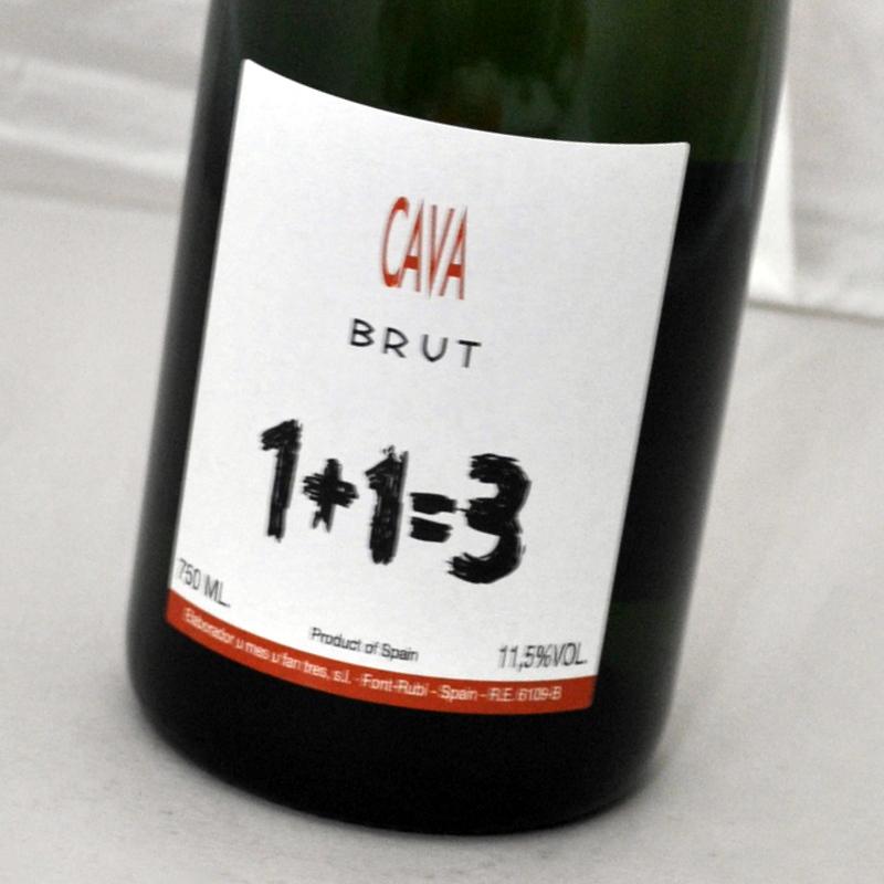 ウ メス ファン トレス ブリュット 1+1=3 最新 を証明するようなスペイン カヴァ 新作通販 白 1500ml1+1=3 マグナム NV Brut スパークリングワイン 1500ml CAVA
