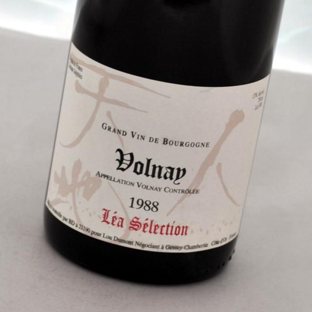 日本人醸造家仲田晃司氏逸品レアセレ ヴォルネー 1988 販売期間 限定のお得なタイムセール ルー デュモン レア フランスVolnayLou Dumont Selection セレクション赤ワイン LEA 流行