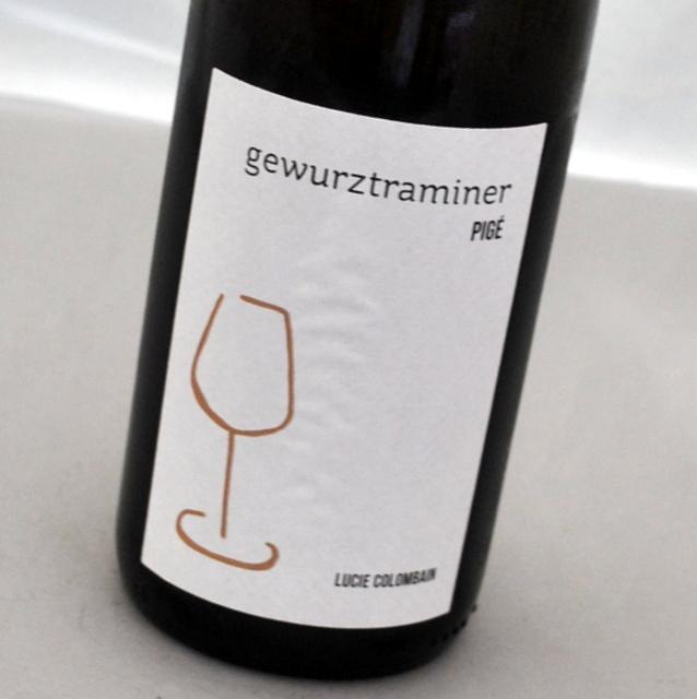 ゲヴュルツトラミネール ピジュ 推奨 2018 ルーシー コロンバン白ワイン Colombain 注目ブランド アルザス PigeLucie フランスGewurztraminer
