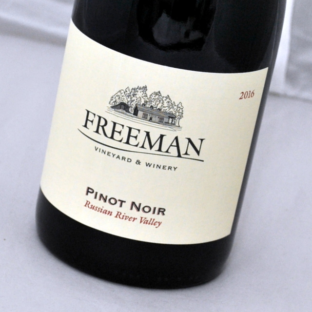 カリフォルニア唯一の日本人女性ワインメーカー ピノ ノワール ロシアン リヴァー ヴァレー 2016 フリーマン ヴィンヤード 最新号掲載アイテム Noir ValleyFreeman River 赤ワイン ワイナリー Pinot Russian 贈答品 VineyardWinery カリフォルニア