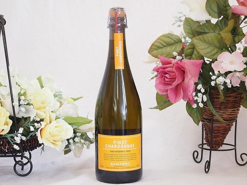 12本セット サンテロ ピノ シャルドネ ヴィノ スマンテ ブリュット 750mlスパークリングイタリアワイン(白 辛口)750ml×12本