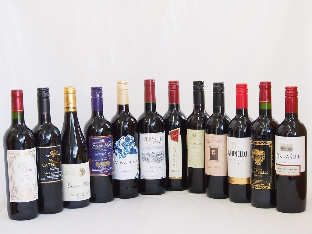 【特選】高品質ワイン12本福袋(赤12本)750ml×12本