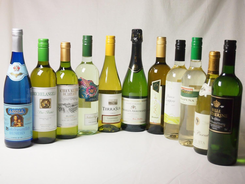 【特選】高品質ワイン10本福袋(白10本)+優雅でエレガントなスパークリングワイン(フランス泡・白)豪華セット