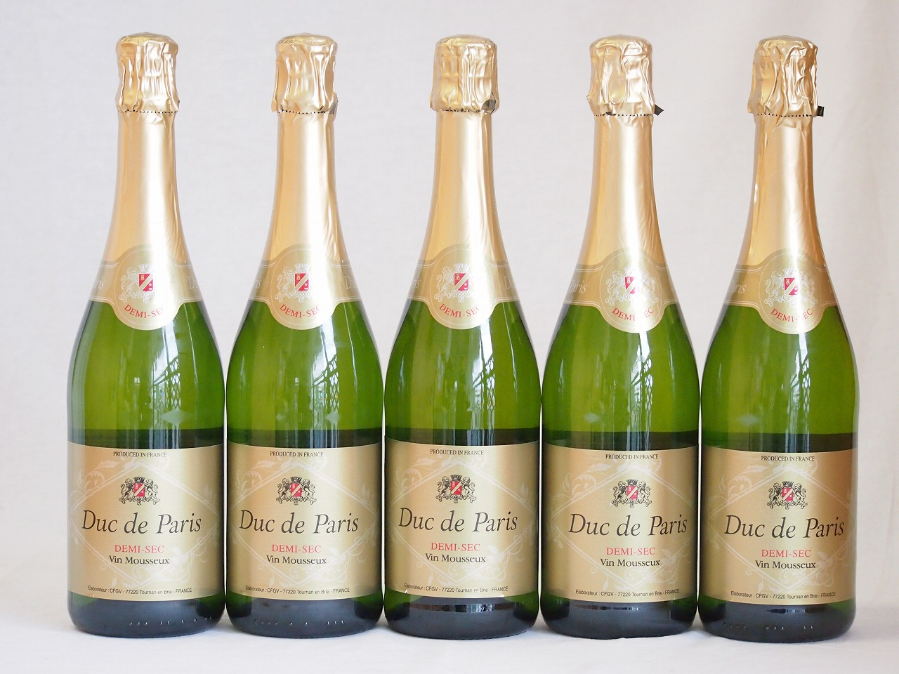 フランススパークリング白ワイン11本セット デュック ド パリ ドミセック(やや甘口) 750ml×11本