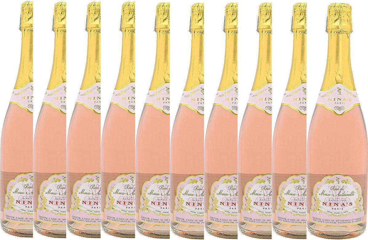 10本セットロゼ・ド・マリー・アントワネット 薔薇のスパークリングワイン(フランス)Rose de Marie-Antoinette 750ml×10本