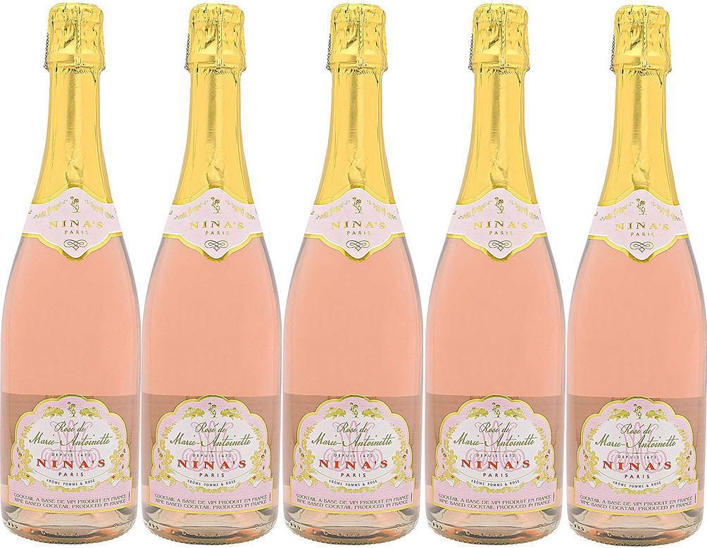 5本セットロゼ・ド・マリー・アントワネット 薔薇のスパークリングワイン(フランス)Rose de Marie-Antoinette 750ml×5本