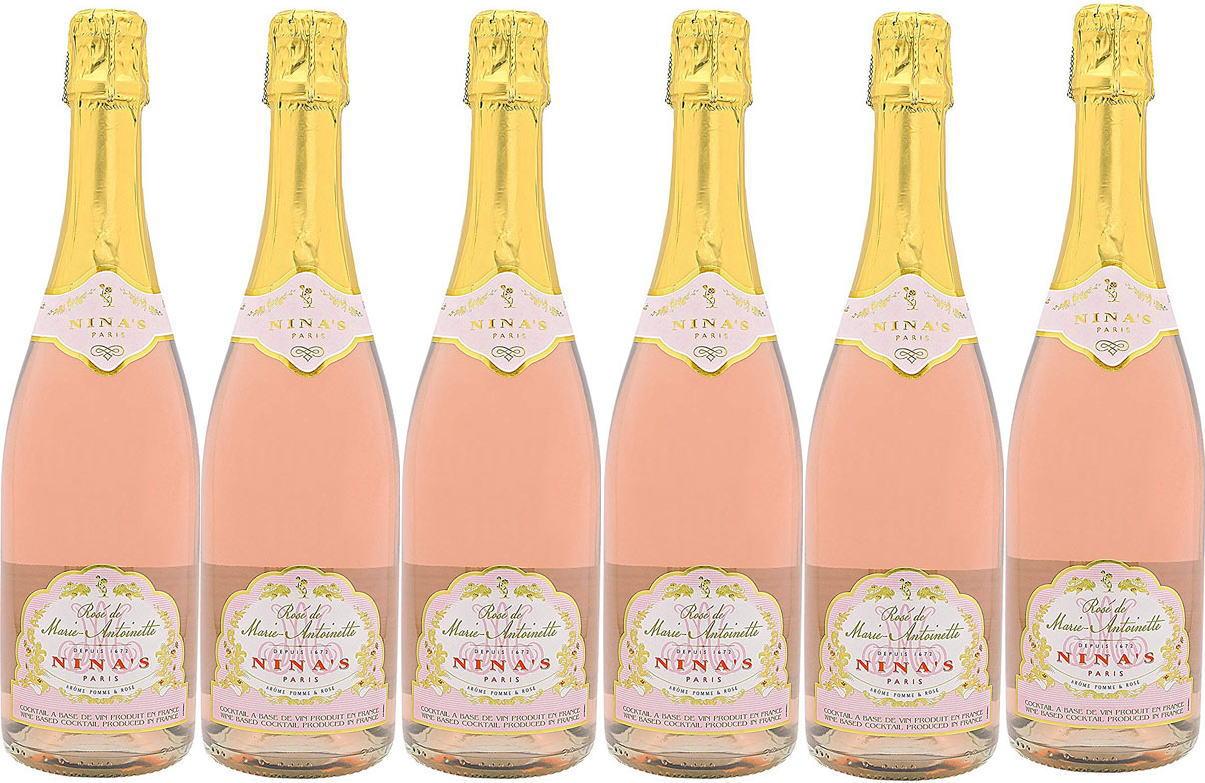 6本セットロゼ・ド・マリー・アントワネット 薔薇のスパークリングワイン(フランス)Rose de Marie-Antoinette 750ml×6本