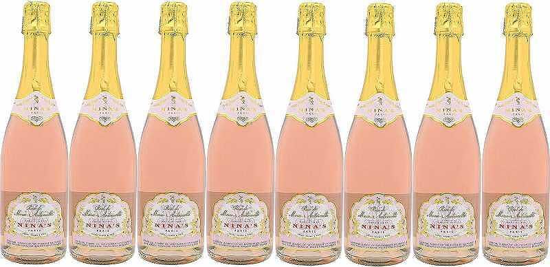 8本セットロゼ・ド・マリー・アントワネット 薔薇のスパークリングワイン(フランス)Rose de Marie-Antoinette 750ml×8本