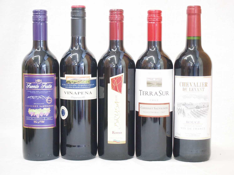 ワインセット 赤ワイン ( スペインワイン 3本 フランスワイン 3本 イタリアワイン 3本 チリワイン 6本)計750ml×15本