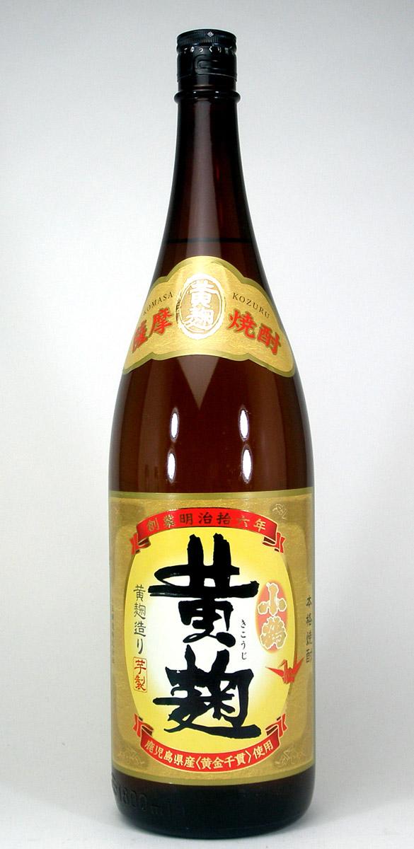 【 6本セット】小正醸造 黄麹で仕込まれた芋焼酎 小鶴 黄麹 25度 1800ml