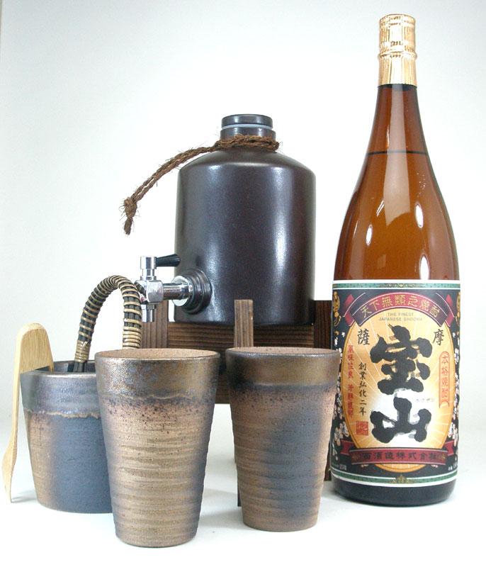 焼酎サーバー全セット版(西酒造 芋焼酎 薩摩宝山 1800ml )焼酎ギフト【楽ギフ_メッセ入力】