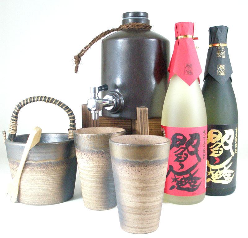 焼酎サーバー全セット版(麦焼酎閻魔・黒麹 閻魔720ml)