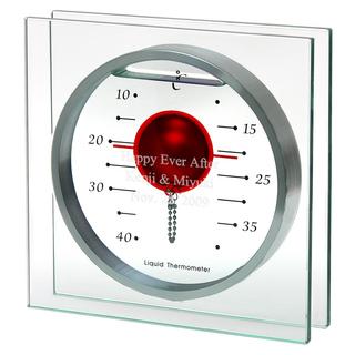 【名入れ】 ガリレオ温度計 フロートレッドL