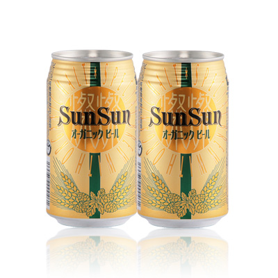 サンサン オーガニックビール 350ml(24本入)×2ケース ヤッホーブルーイング(長野県)