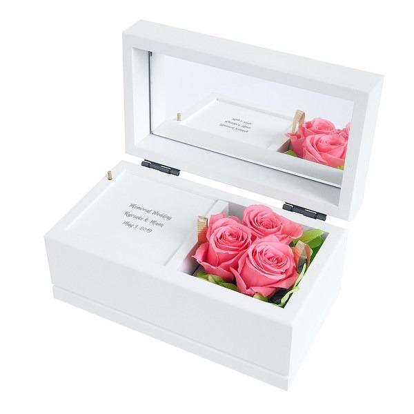 贈り物ギフトレリーフセット プリザーブドフラワー オルゴール ピンク