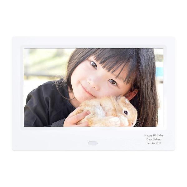 アニバーサリー 贈り物ギフト レリーフセット ホワイト デジタルフォトフレーム