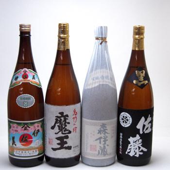 セレクション芋焼酎福袋4本セット(森伊蔵 伊佐美 魔王 佐藤黒)1800ml×4本