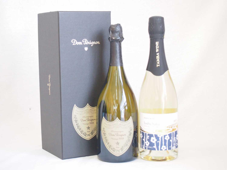 正規ドンペリと京都青谷産スパークリング城州白梅ワイン(甘口)2本セット
