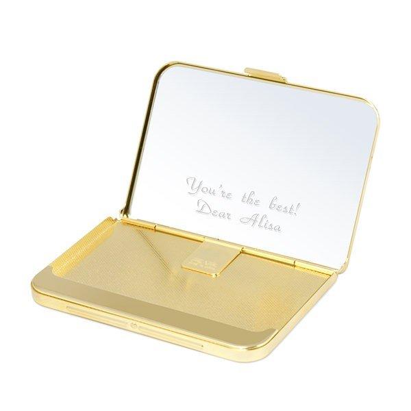 贈り物セット カードケース ミラーゴールド