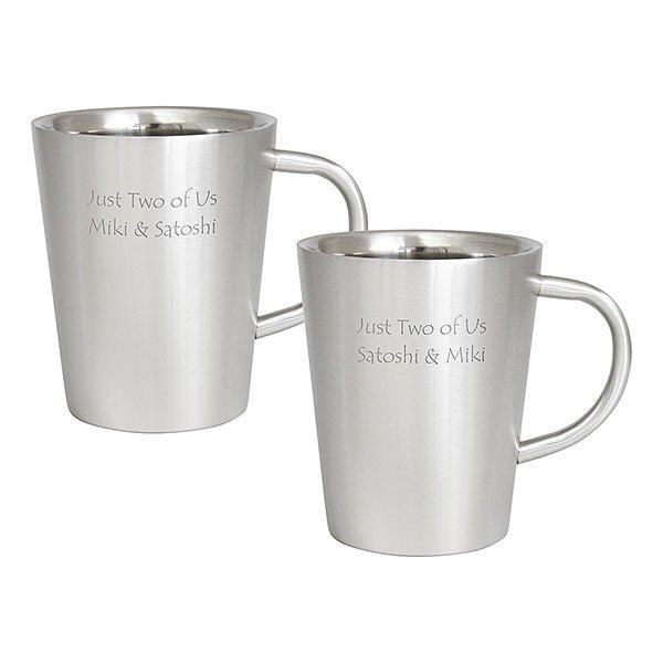 贈り物セット ダブルウォール ステンレスマグカップ ペア