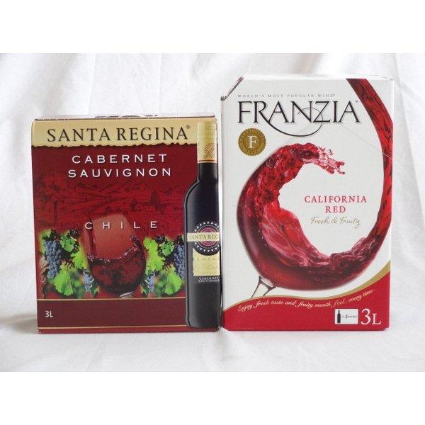 ワインセット 3セット 大容量飲み比べセット(サンタ・レジーナ カベルネ・ソーヴィニヨン 赤ワイン フルボディ3000ml×3本