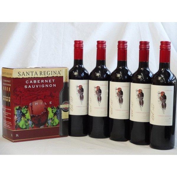 【最大2000円オフクーポン26日1:59迄】チリ産大容量赤ワイン飲み比べセット(サンタ・レジーナ カベルネ・ソーヴィニヨン 赤ワイン フルボディ3000ml デル・スール・