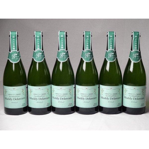 ワインセット 国産スパークリングワイン6本セット マディデラウェア(デラウェア)  (山梨県) 750ml×6本