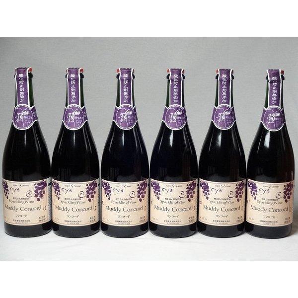ワインセット スパークリングワイン6本セット マディルージュ(ルージュ)  (山梨県) 750ml×6本