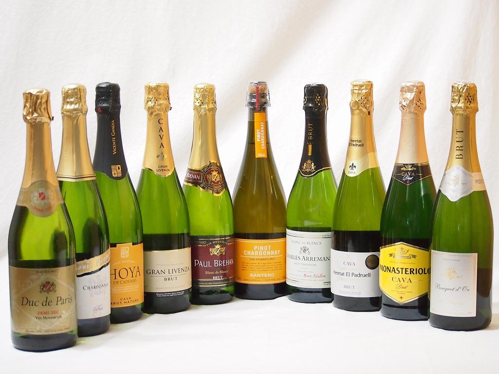 ワインセット スパークリングワイン白辛口豪華10本セット エレタット・エル・パドルウェル カヴァ ブリュット 白(スペイン) 辛