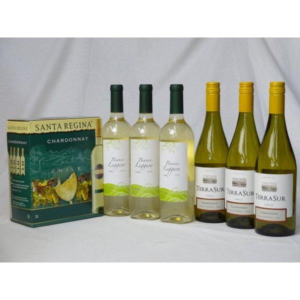 ワインセット チリ産大容量白ワイン飲み比べセット(サンタ・レジーナ シャルドネ 白ワイン 3000ml テラ・スル シャルドネ