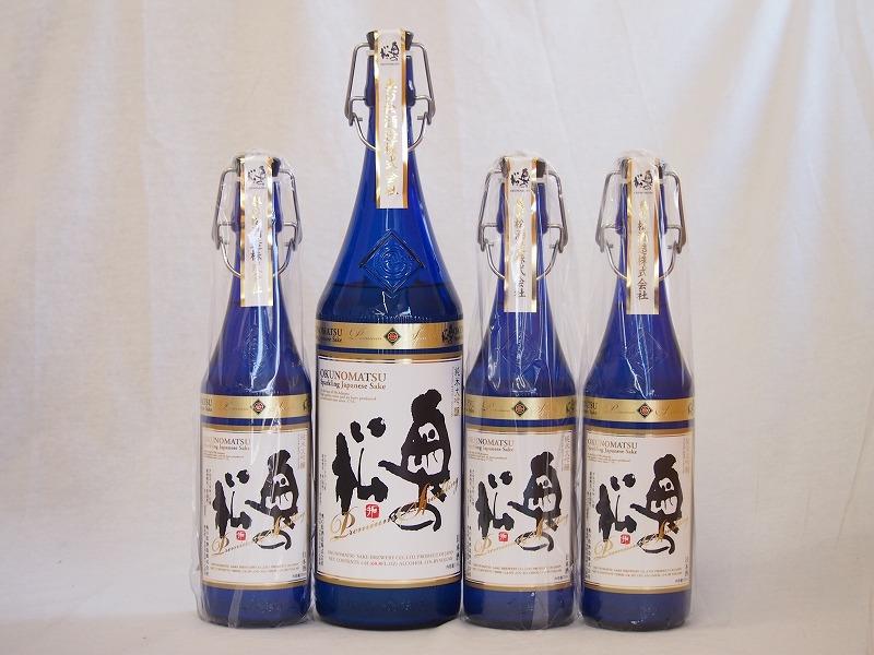 スパークリング日本酒大中4本セット 純米大吟醸 奥の松(福島県)1600ml×1 720ml×3