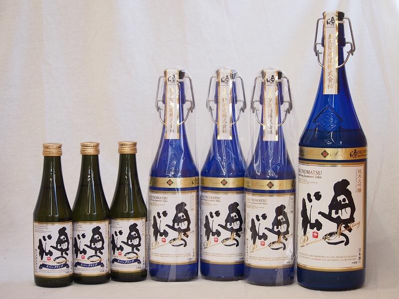 スパークリング日本酒大中小7本セット 純米大吟醸 奥の松(福島県)1600ml×1 720ml×3 290ml×3