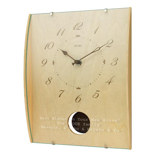贈り物ギフトセット ギフトレリーフセット ウッドガラスクロック ナチュラル (電波時計) レリーフクロック