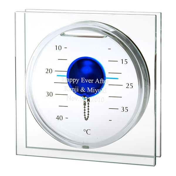 贈り物ギフトセット ギフトレリーフセット ガリレオ温度計 フロートブルーS レリーフ