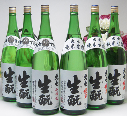 【 6本セット】大七酒造スペシャルセット 大七 生もと本醸造3本 純米酒3本 1800ml×6本(福島県)