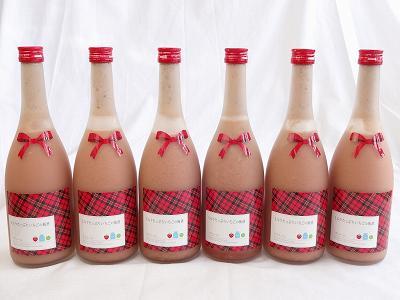 6本セット ミルクたっぷりいちごの梅酒 研醸 720ml×6本