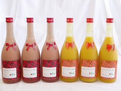 ミルクたっぷり12本セット ミルクたっぷりいちごの梅酒6本 マンゴーの梅酒6本 研醸 720ml×12本